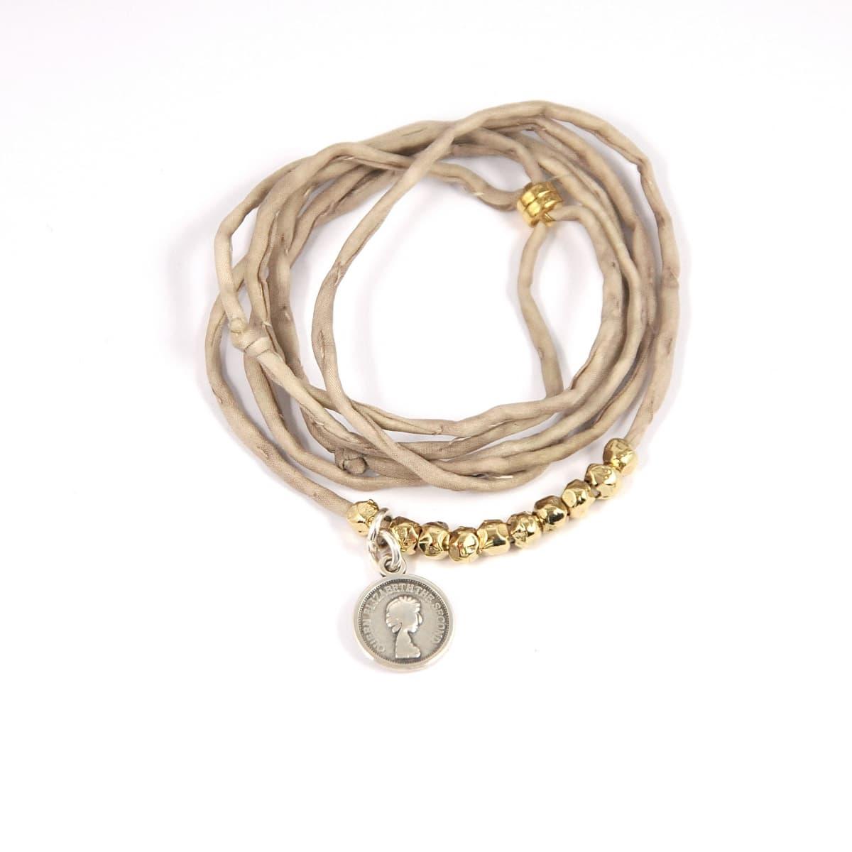 bracelet femme  Lou beige vue générale