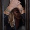 bracelet femme  Lou kaki porté