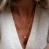 collier femme  Adèle grand Trèfle porté