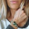 bracelet femme  Alma pastille Emeraude porté