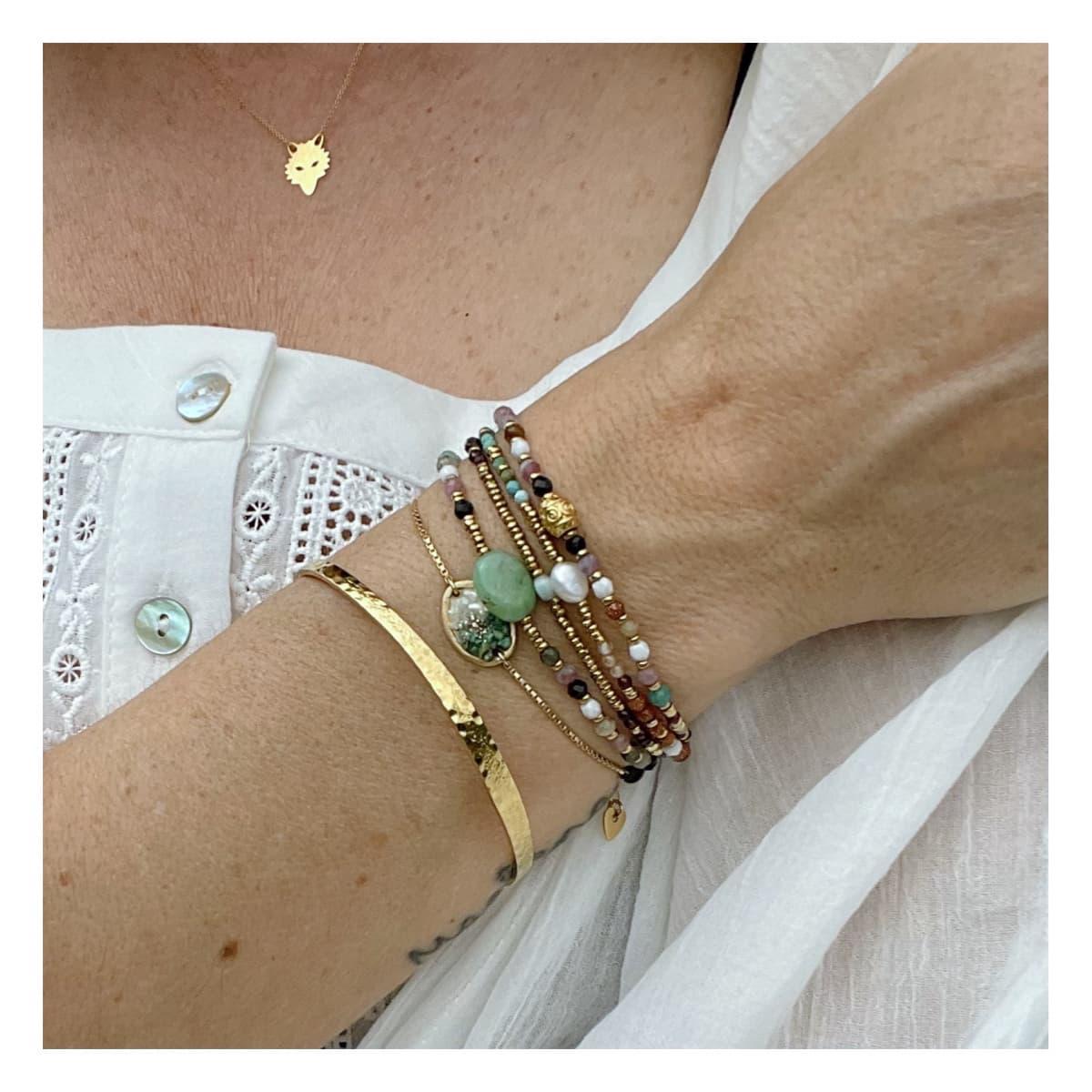 Bracelet femme Anna Rainbow portée