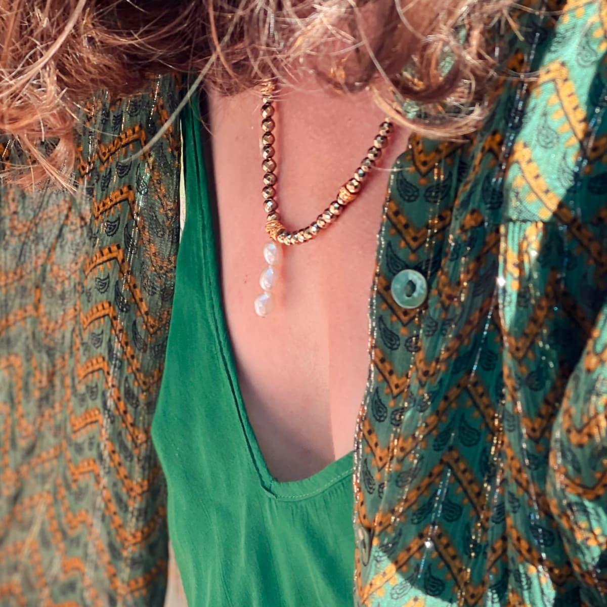 Collier Louisette trio perles d'eau douce