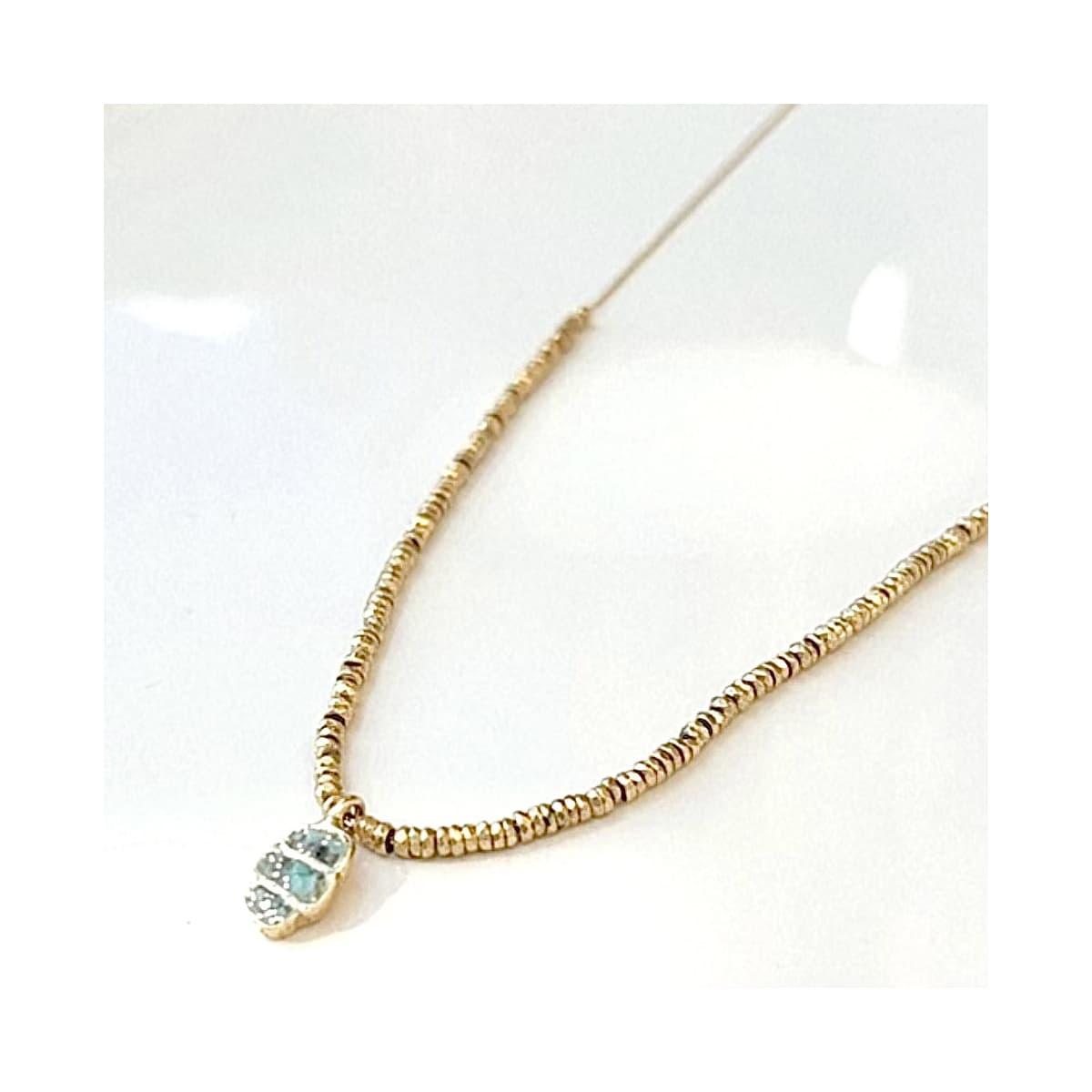 Collier Billie scarabée turquoise