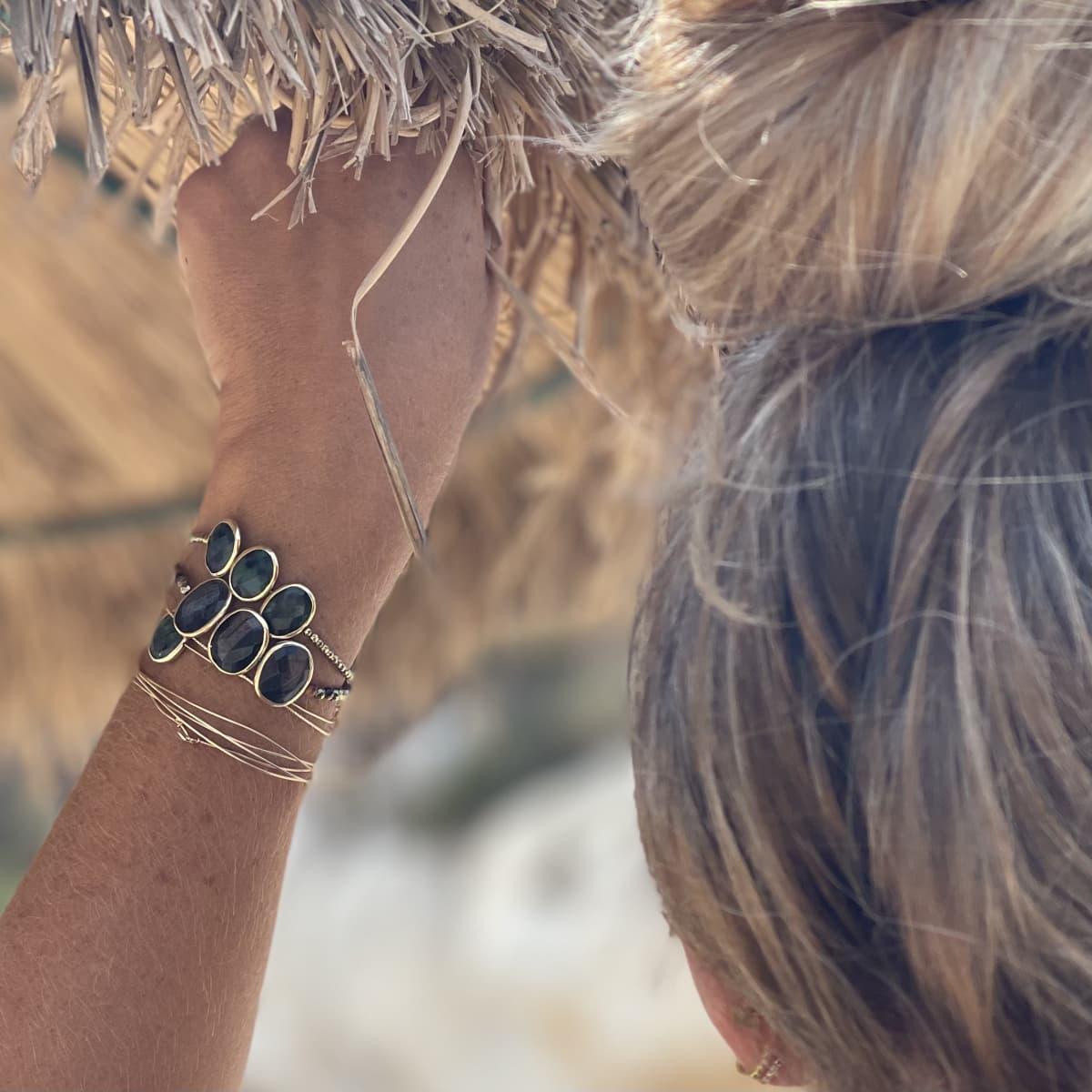 Bracelet Louisette trio Hypersthéne