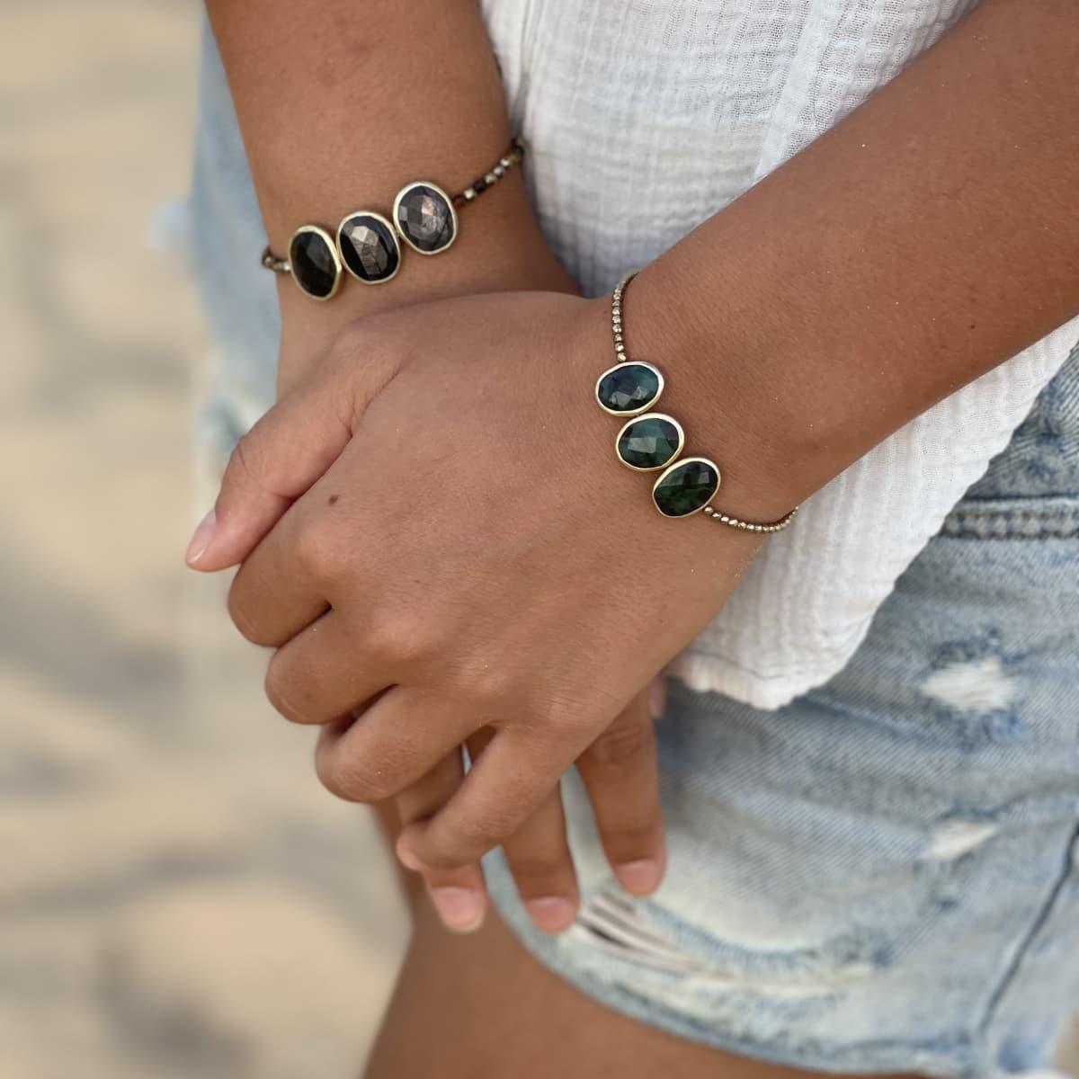 Bracelet Louisette trio Emeraude