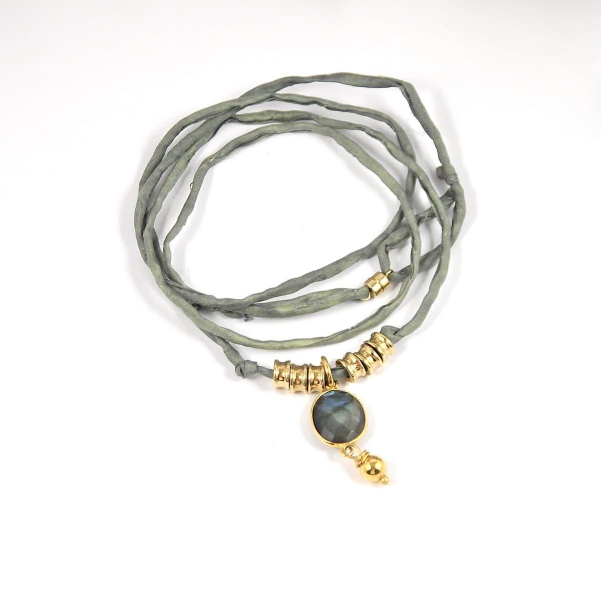 bracelet femme  Lou kaki vue générale