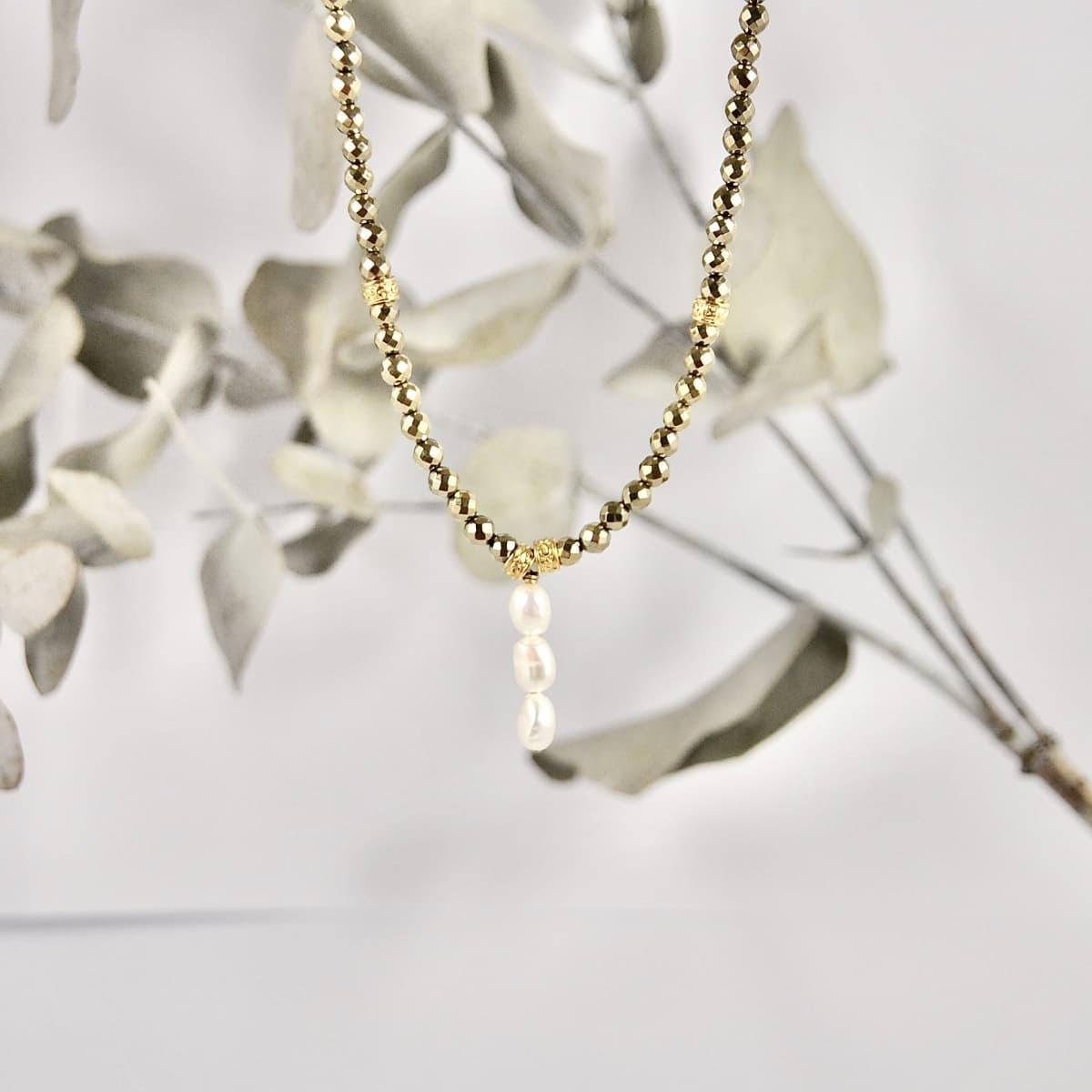 collier femme  Louisette trio perles d'eau douce vue générale